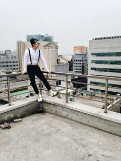 RapMon- I'm getting nervous and fidgety because he's leaning against the railing lol
