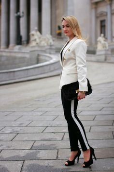 pants - Forever 21 / blazer - Mango / clutch - Aldo / shoes - Humanic / rings - Majolie, engagement ring / earrings - Majolie / watch - Burberry Aldo Shoes, Ring Earrings, Tuxedo, Burberry, Capri Pants, Blazer, Black And White, Elegant, Lady