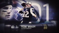"""New England Patriots quarterback Tom Brady is voted the best player in the NFL by his peers on """"Top 100 Players of 2017."""""""