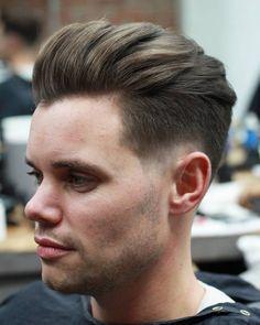 Pompadour Hairstyles for Men pompadour haircut how to style - Haircut Style Mens Hairstyles Pompadour, Mens Modern Hairstyles, Mens Medium Length Hairstyles, Pompadour Men, Popular Mens Hairstyles, Cool Hairstyles For Men, Haircuts For Men, Men's Hairstyles, Pompadour Style