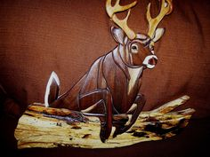 Intarsia Whitetail Deer by WoodenArtbyTom on Etsy, via Etsy.