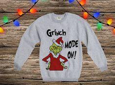 Grinch sweatshirt hoodie raglan long sleeve Xmas jumper