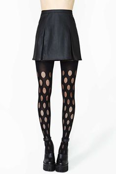 House Of Holland Reverse Dot Tights