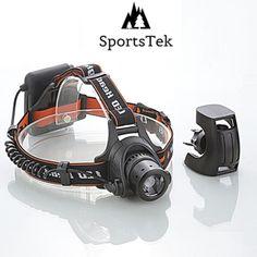 Don't Get Lost in the Dark! - SportsTek Lightwear 4in1 LED Headlamp