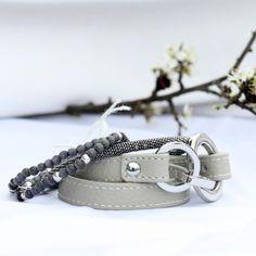 Grey leather bracelet - 32,95€