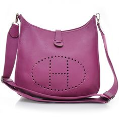 Wow!  Another stunner... HERMES Taurillion Clemence Evelyne III GM in Tosca Pink.