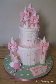 Princess Peppa Pig Castle Cake