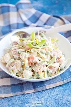 Tortellini, Pasta Salad, Potato Salad, Healthy Recipes, Healthy Foods, Potatoes, Fish, Ethnic Recipes, Salads