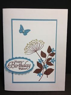 A Summer Silhouettes Birthday Birthday Card Handmade Cards Rubber Stamping Stampin' Up!