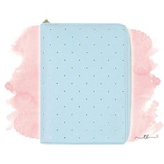 Planner binder A6/personal with zipper in blue at TanyaBrittany shop