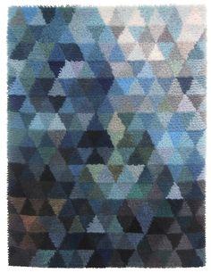 Floor Cloth, Floor Rugs, Pentagon Design, Rug Hooking, Locker Hooking, Rya Rug, Textiles, Yarn Bombing, Tapestry Weaving