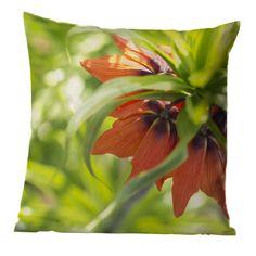 Kissen, Tuch od. Leinwandbild mit oranger Blüte einer Kaiserkrone