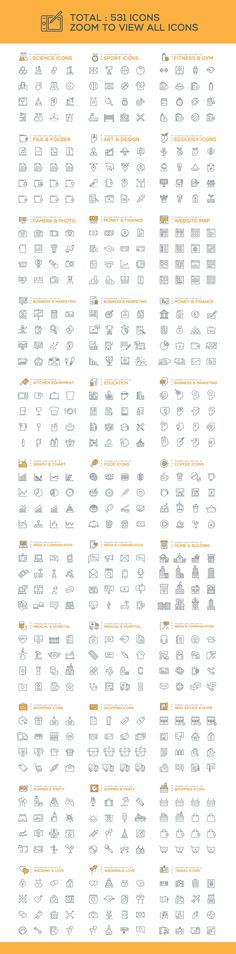 500+ Modern Line Icons Pack by Graphicafe on Creative Market