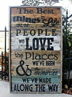 Rustic Reclaimed Best Things in Life Pallet Wood Sign Quotes