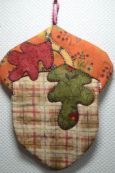 Acorn Harvest Mug Rug. $9.00, via Etsy by QuiltinCats.
