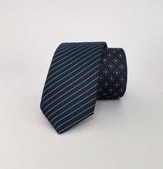 Dark Blue Necktie, Dark Blue Men's Tie, Dark Blue Cravat, Dark Blue Tie - DK220 #handmadeatamazon #nazodesign