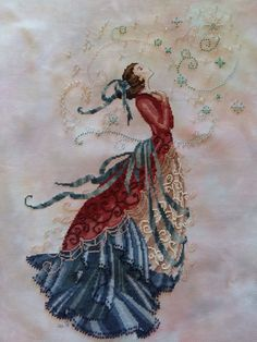 Stargazer. Stitched on Polstitches Tinkerbell. Finished 11/07/2015