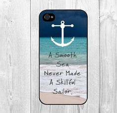 Cool Nautical Anchor Life Quote Pattern Hard Snap On Case Protective Skin Cover For Apple Iphone 4 4 on Luulla