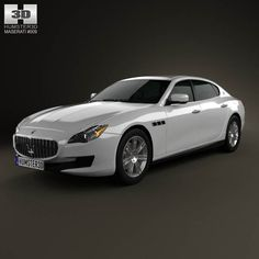 Maserati Quattroporte 2013 3d model from humster3d.com. Price: $75