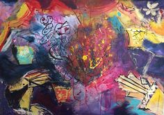 1 of my all time fave commissions - look at all the energy popping out! Fire music dance.. #vibrantart #energyart