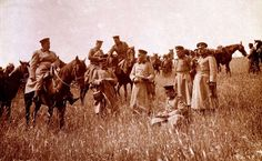 The First Balkan War breaks out between the members of the Balkan League–Serbia, Bulgaria, Greece and Montenegro–and the Ottoman Empire, Oct. 18, 1912 General Dimiyriev, commander of the Third Bulgarian Army, his staff notes with the battle of Lule Burgas, fought between 28 October and 3 November 1912.