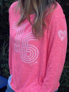 Hammill + Co Retro 76 Long Sleeve Tee Hot Pink   The Rock Box Store