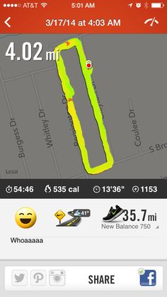3/17/14: 4 miles + 32 curtsy squats