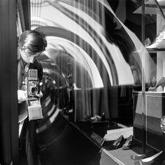 Vivian Maier  -  Self Portrait, undated (shoe store)