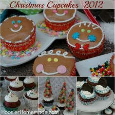 Christmas Cupcakes :: HoosierHomemade.com