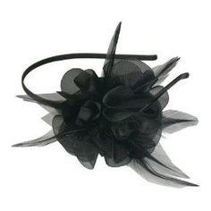 Smoothies Laser Cut Chiffon Flower Feathers Thin Headband $8.50
