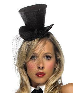 Mini Black Tophat with Veil