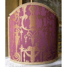 venetian-lampshade-in-rubelli-silk-lampas-brocade-fabric-amethyst-aida-pattern-half-lamp-shade.jpg (1200×1200)