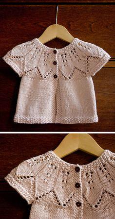 Free Knitting Pattern Source by AmazingKnit Coat Baby Cardigan Knitting Pattern, Baby Knitting Patterns, Knitting Designs, Knitting Stitches, Baby Patterns, Knit Baby Sweaters, Knitted Baby Clothes, Knitting For Kids, Free Knitting