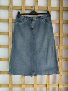 Blue Denim Skirt, Skirts For Sale, Online Price, Size 12, Best Deals, Fashion, Moda, Fashion Styles, Fashion Illustrations