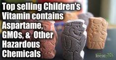 Children's Vitamin contains Aspartame, GMOs