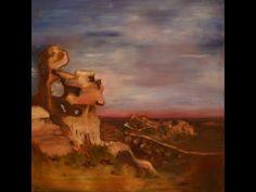 Les baux de Provence, olieverf op papier door Nathalie