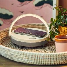 Zen tea ceremony phone caddy with handle Zen Tea, Bedtime Reading, Phone Stand, New Home Gifts, White Lead, Tea Ceremony, Led Lamp, Bluetooth, New Homes