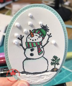 Stampin' Up! Demonstrator sharing her creativity and ideas. Christmas Card Crafts, Stampin Up Christmas, Xmas Cards, Christmas Snowman, Holiday Cards, Christmas 2019, Diy Cards, Greeting Cards, Christmas Ornaments