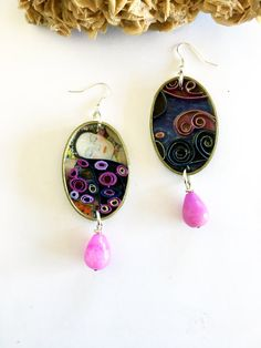 """quilling paper earrings """"Klimt_04"""" by QuillyPaperDesign"""