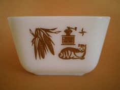 Pyrex Early American Corn Coffee Grinder Cat by PJsParadise, $8.00