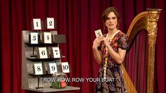 Musical Instrument Game with Keira Knightley, Michael Buble, Dave Mathews, and Jimmy Fallon.  Pretty funny!
