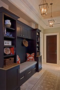 75 DIY Entryway Mudroom Bench Makeover Ideas – Page 74 – Best Home Decor Ideas Flur Design, Küchen Design, House Design, Design Ideas, Luxury Interior Design, Interior Design Living Room, Mudroom Cabinets, Mudroom Cubbies, Unique Tile