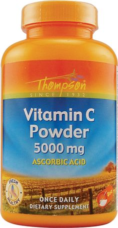 Thompson Vitamin C Powder. I use this to activate the baking soda in my baked goods. Or, for vinegar-like tartness in salad dressings for yeast-free eating.