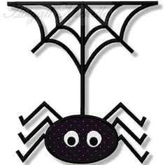 Bewitched Spider Applique - 2 Sizes!   Halloween   Machine Embroidery Designs   SWAKembroidery.com Abigail Michelle