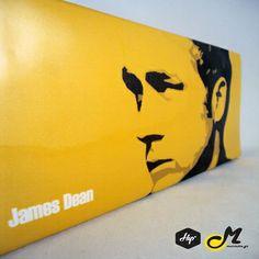 """Handmade Printed Clutch - """"James Dean"""" (Limited Edition)  #Hip #Hipyourteez #Accessories #Mariettas #Ηandmade #Printed #Clutch #Bags #Card_Holders #Limited_Edition #Exclusive#Lana_Del_Rey #James_Dean #Rihanna #RiRi"""