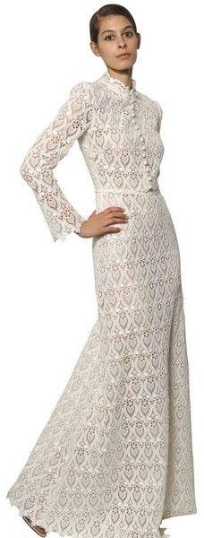 Valentino summer 2013 Cotton Macramé Long Dress - Lyst