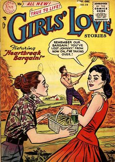 A cover gallery for the comic book Girls' Love Stories Comic Book Covers, Comic Books, Comics Story, Dc Comics, Comic Book Girl, Romance Comics, True Romance, Comic Panels, Golden Age
