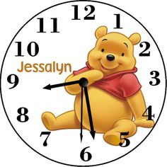 Winnie The Pooh Inspired Personalized Wall Clock - Choose Pooh or Group Personalized Clocks, Winnie The Pooh, Group, Inspired, Disney Characters, Handmade Gifts, Wall, Inspiration, Etsy