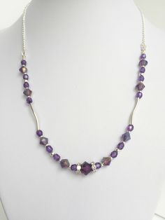 A personal favorite from my Etsy shop https://www.etsy.com/listing/249317194/purple-swarovski-sterling-silver
