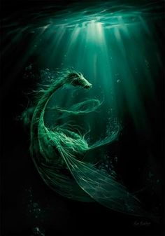 What lurks in the depths of the sea?